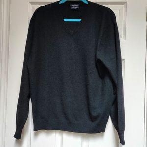 Club Room 100% Fine Cashmere V-Neck Sweater Men's